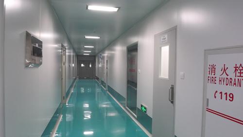 万乐原料药车间受控走廊